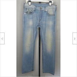 True Religion World Tour Light Wash Straight Jeans
